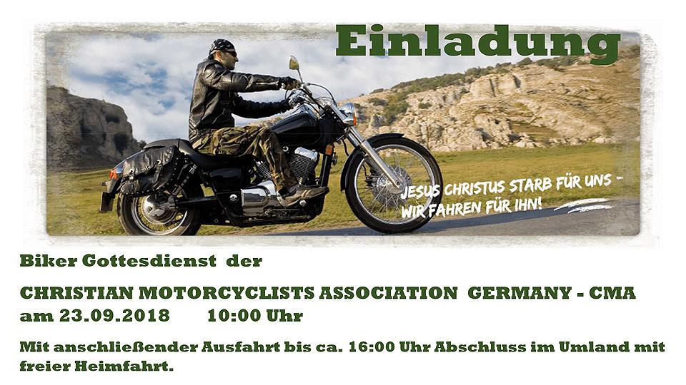 Biker-Gottesdienst und Ausfahrt der CMA Germany in Tempelhof am 23.9.2018