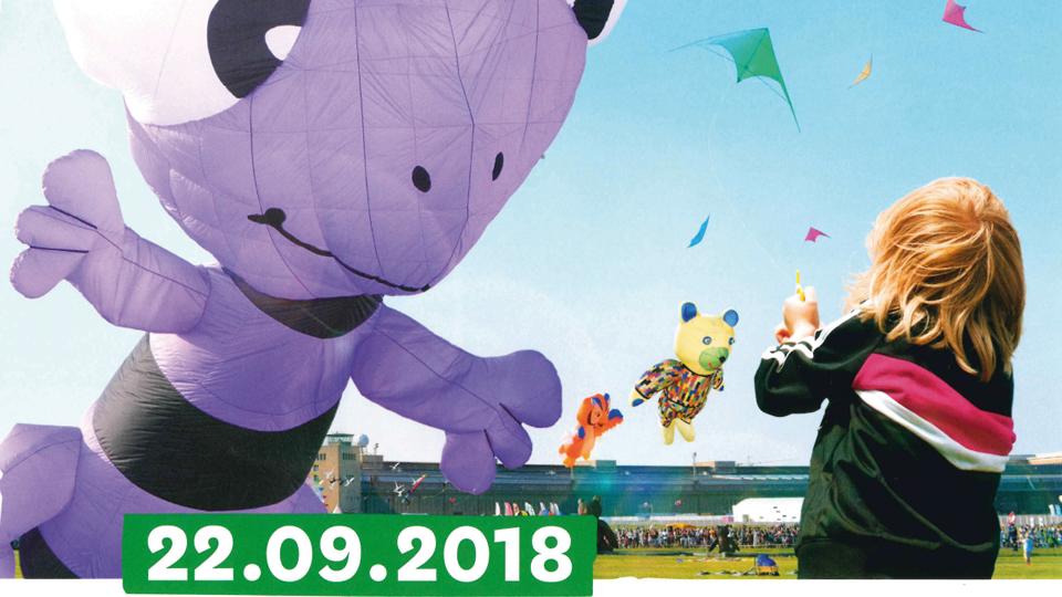 Festival der Riesendrachen auf dem Tempelhofer Feld