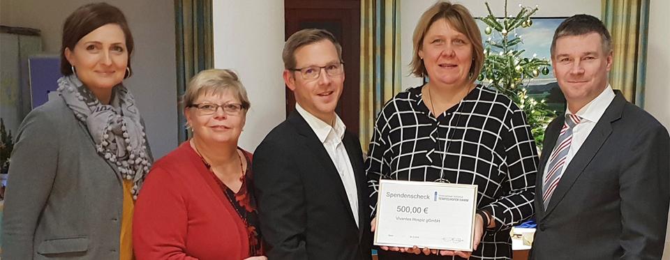4. Dezember: Unternehmer-Initiative Te-Damm e.V. unterstützt  Vivantes Hospiz gGmbH Tempelhof